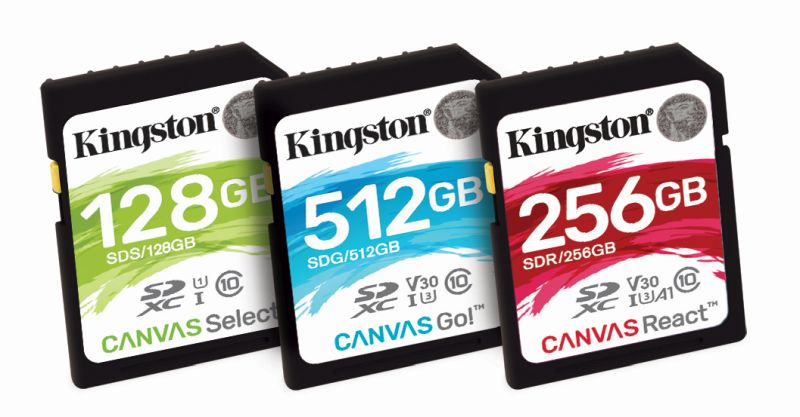 Kingston Canvas Flash Cards
