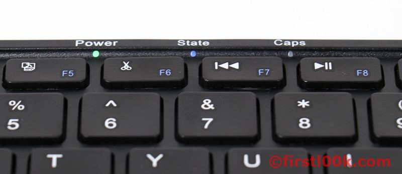 Plugable Bluetooth Keyboard Light Indicators