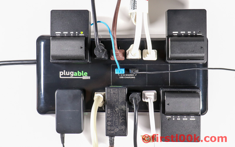 Plugable Surge Protector Spaced Outlets