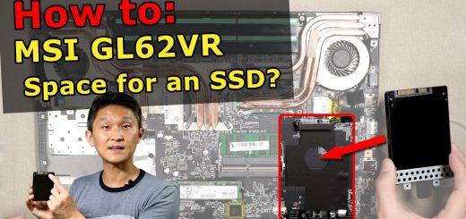 MSI GL62VR SSD Install