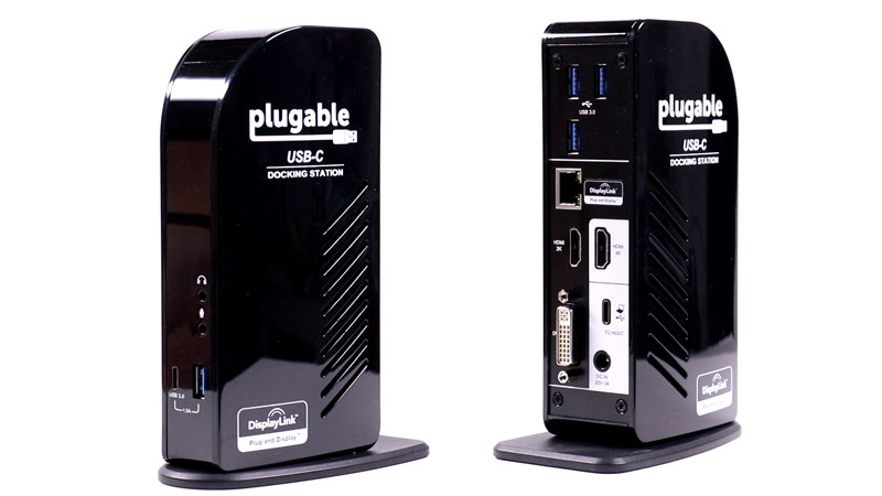 Plugable Dock front/back