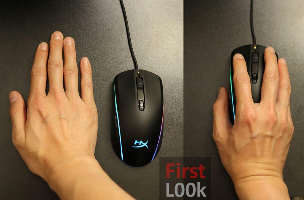 Hyperx Pulsefire Surge RGB Hand size