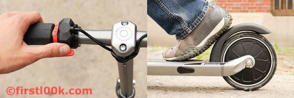handbrake pedal brake