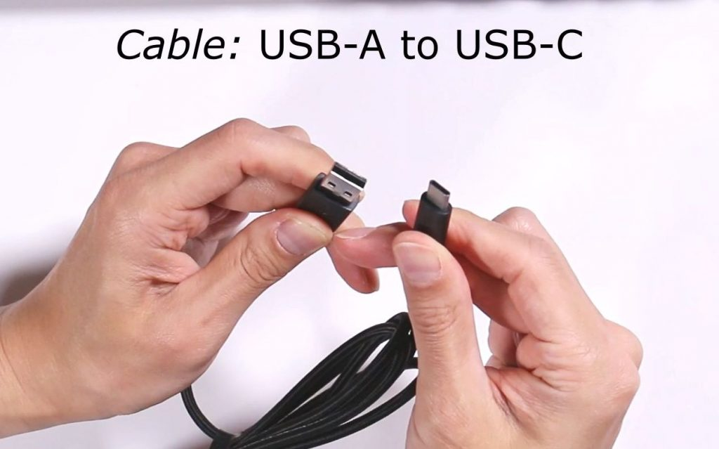 6ft detachable cable (USB-A to USB-C)