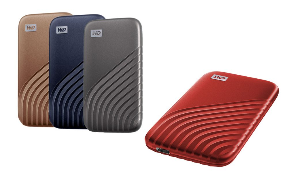WD My Passport SSD 4 colors