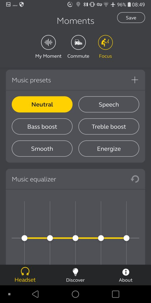 Sound+ EQ and presets