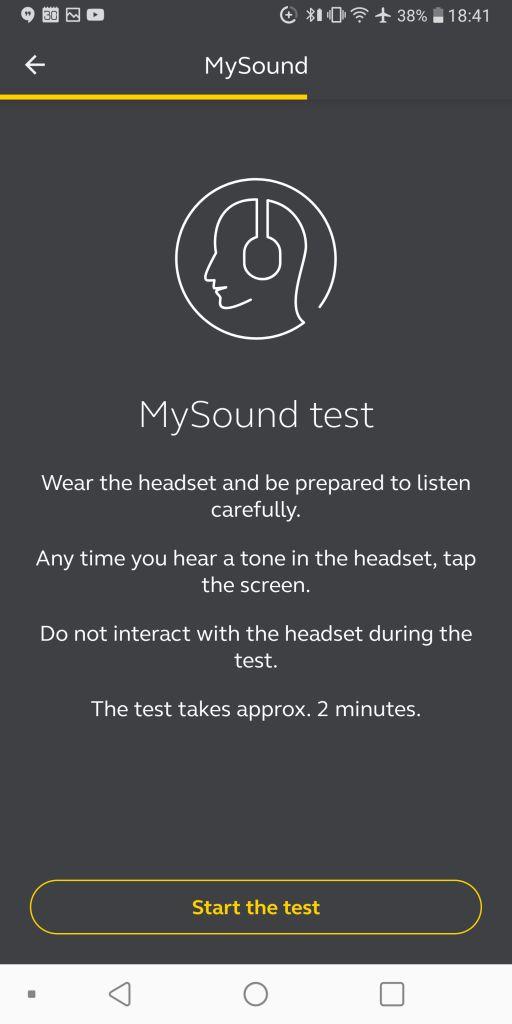 Sound+ MySound test