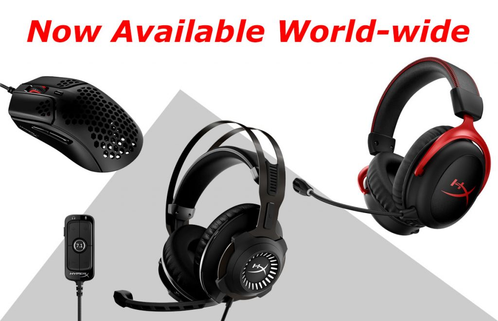 HyperX mouse and headsets avail worldwide