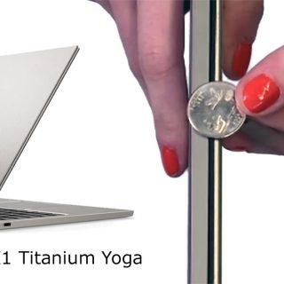 Thinkpad X1 Titanium Yoga vs US Quarter