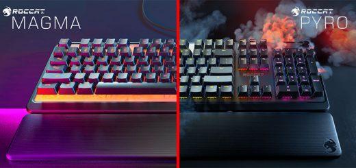 Roccat Magma & Pyro Gaming Keyboards