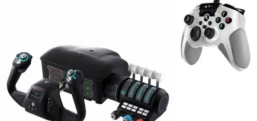 Roccat Recon Xbox controller & VelocityOne Flight controls